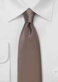 Latte Brown Colored Necktie