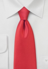 Poppy Red Mens Necktie