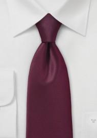 Rich Burgundy Red Colored Necktie