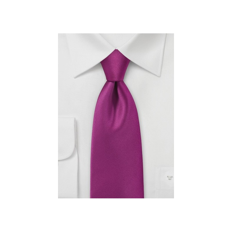 Dark Fuchsia Color Necktie