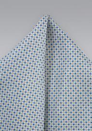Graphic Print Silk Pocket Square