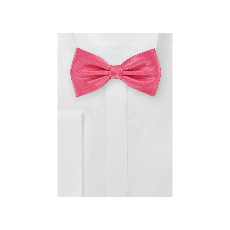 Bow Tie in Neon Coral