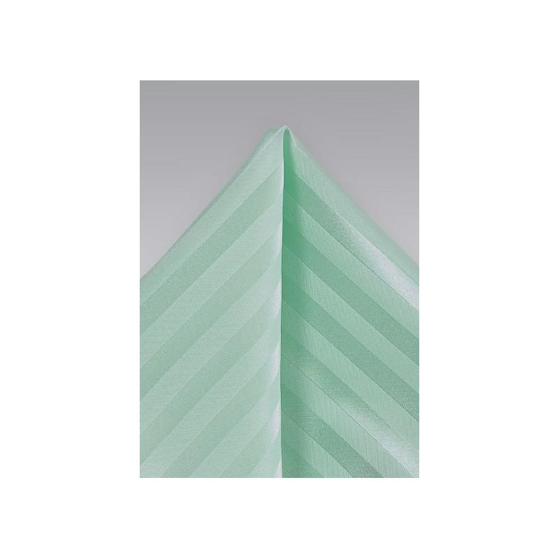 Pistachio Striped Pocket Square