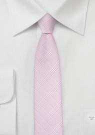 Skinny Necktie in Rose Pink
