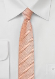 Skinny Tie in Pastel Orange