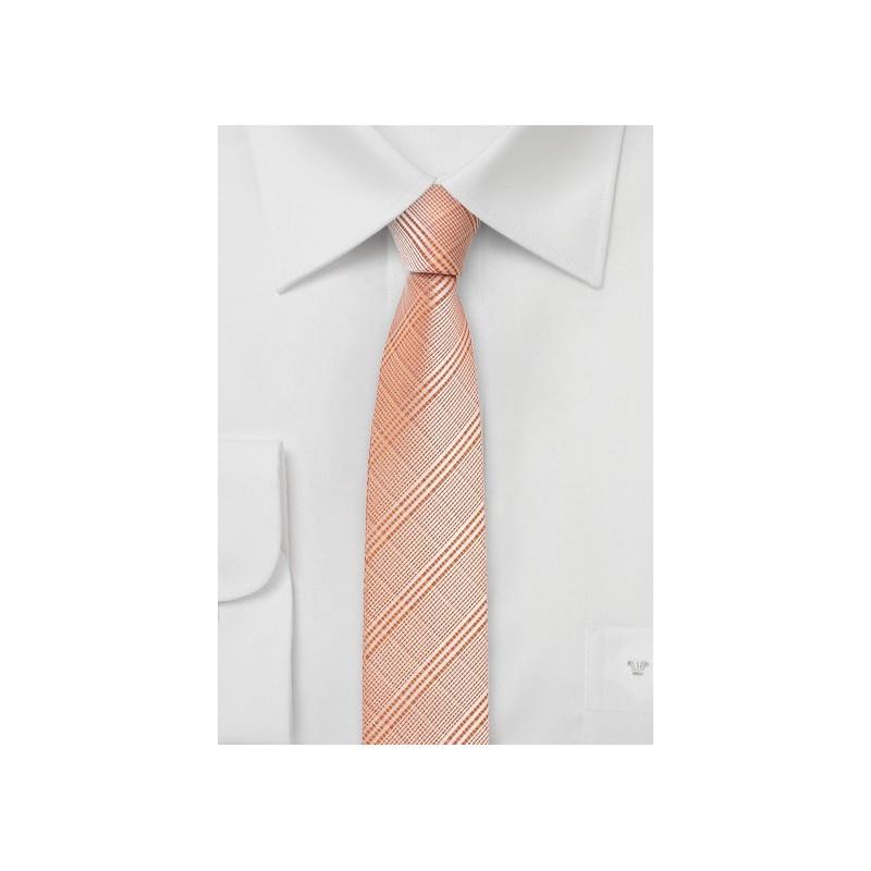 Skinny Tie in Pastel Orange