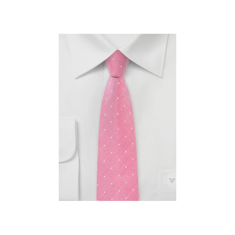 Confetti Pink Polka Dot Tie