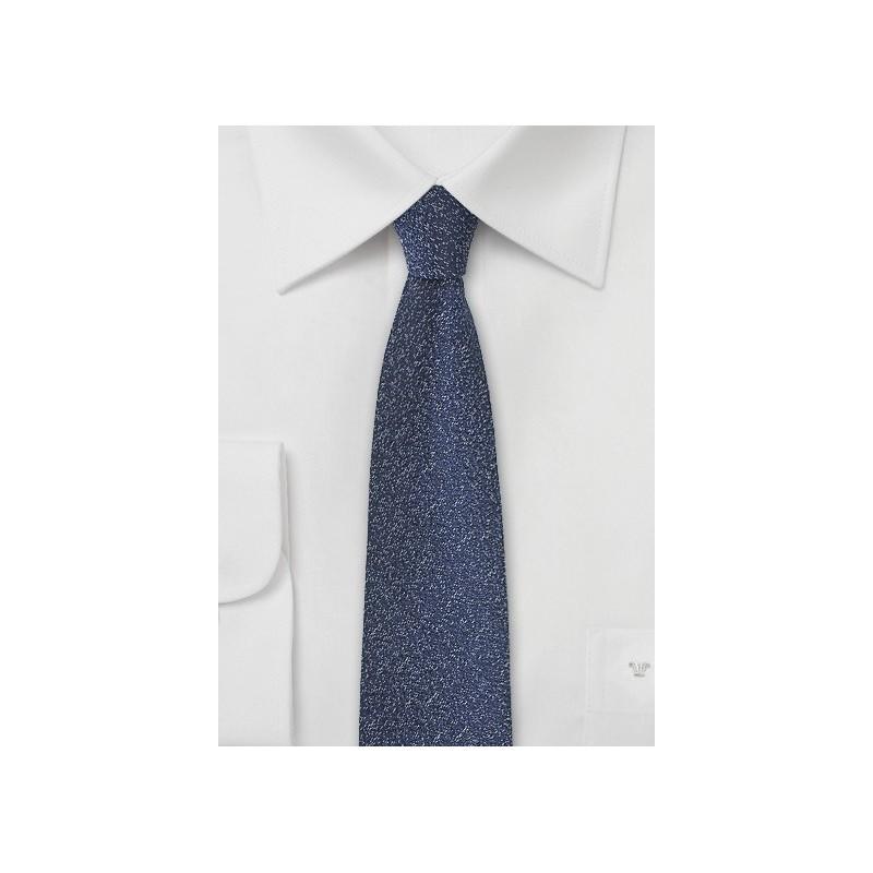 Deep Navy Blue Skinny Tie