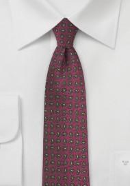 Paisley Skinny Tie in Brick Red