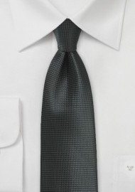 Textured Necktie in Jet Black