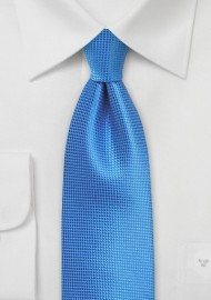 Textured Necktie in French Blue
