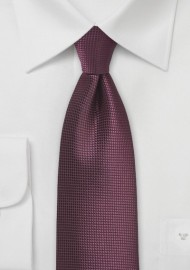 Textured Necktie in Port Red