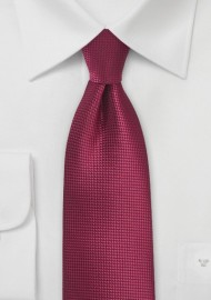Textured Tie in Black Cherry Red