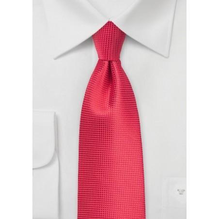 Grenadine Red Color Necktie