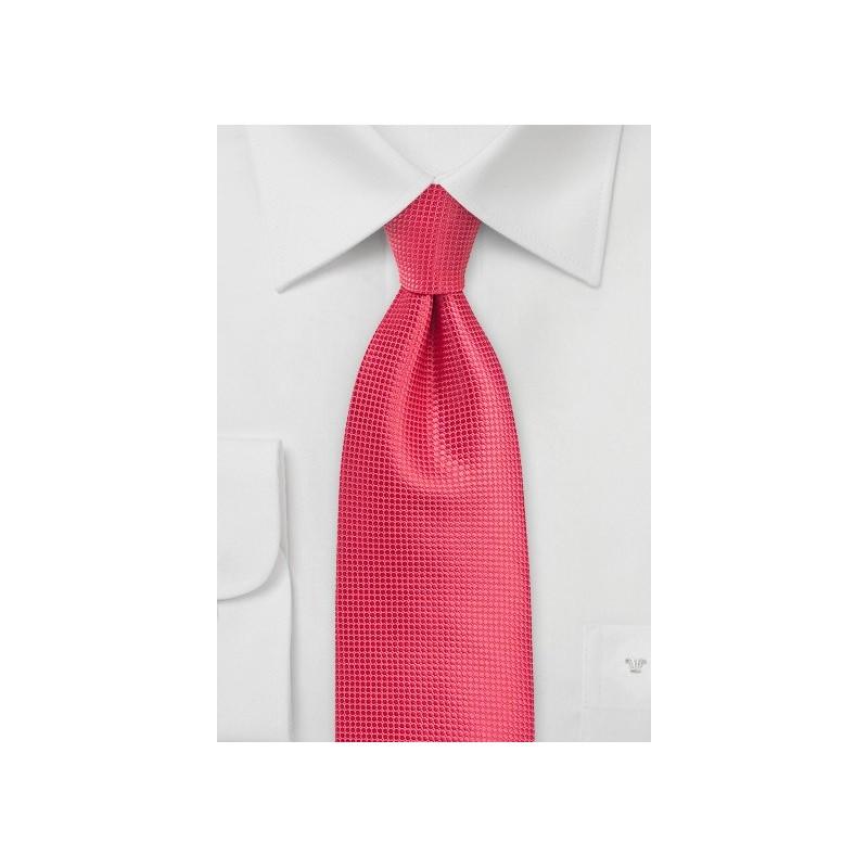 Textured Necktie in Spiced Coral