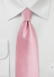 Flamingo Pink Tie with Woven Texture
