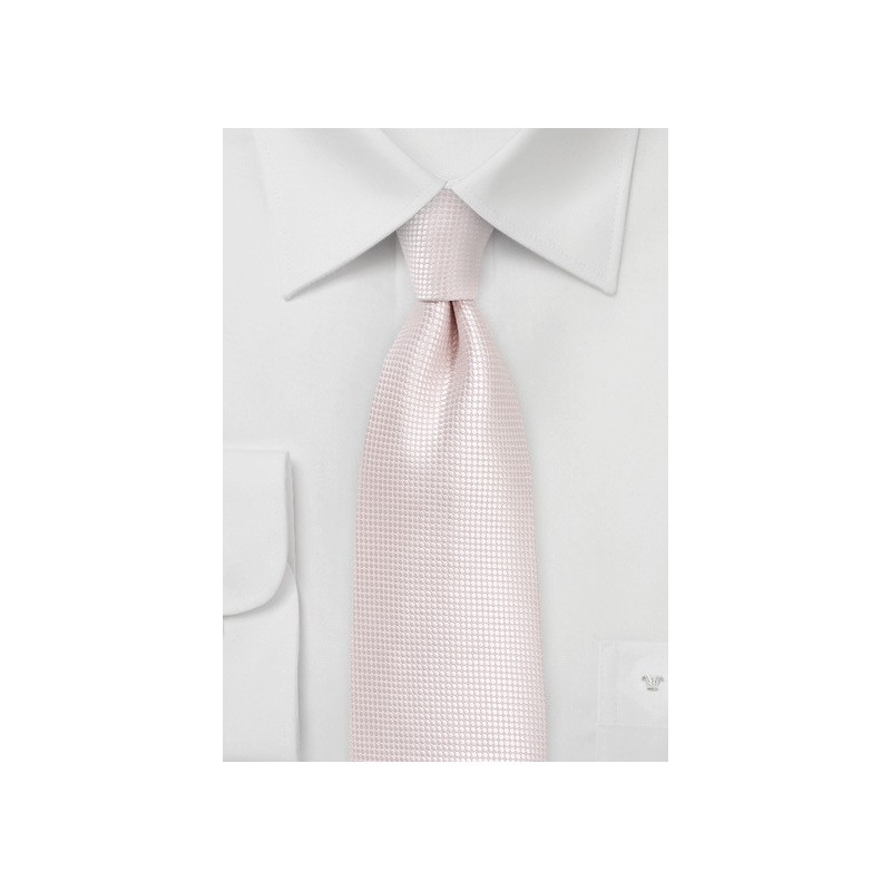 Textured Necktie in Heavenly Pink