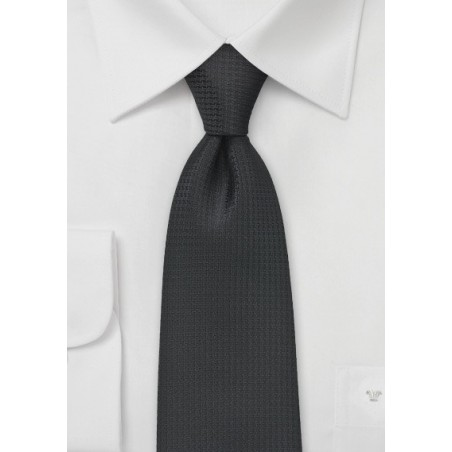 Textured Black Tie for Kids
