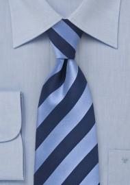 Classic Blue Striped Kids Tie