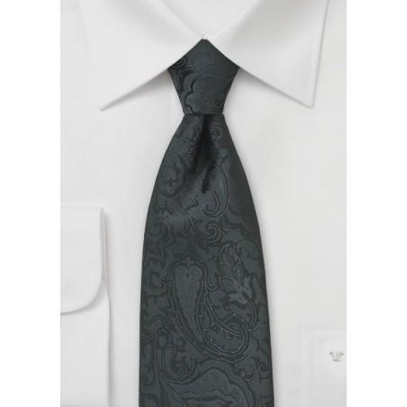 Paisley Tie in Jet Black for Kids