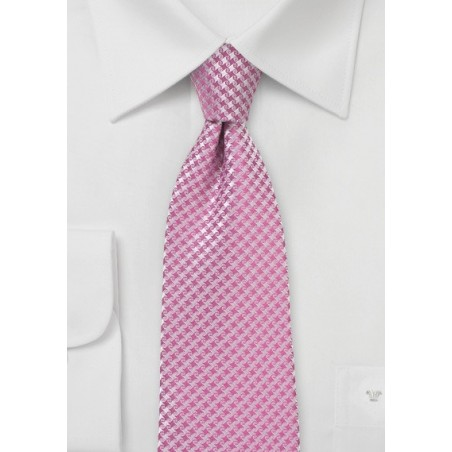 XL Size Tie in Bubblegum Pink