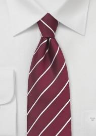 Striped Tie in Classic Burgundy