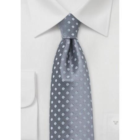 Gray and Silver Polka Dot Tie