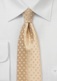 Golden Wheat Colored Polka Dot