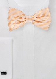 Peach Colored Kids Bow Tie
