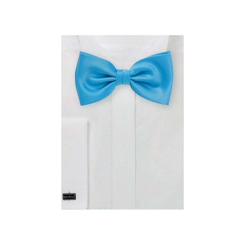 Cyan Blue Bow Tie for Kids