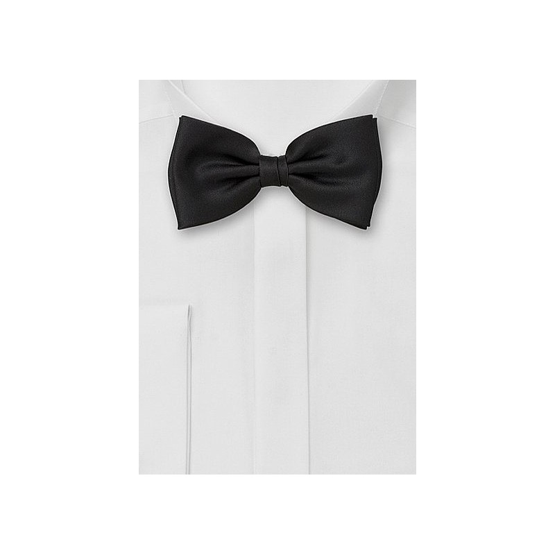 Solid Black Bow Tie in Kids Size