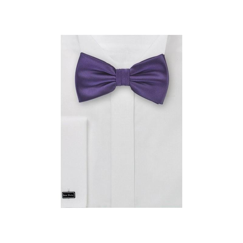Boys Bow Tie in Eggplant Purple