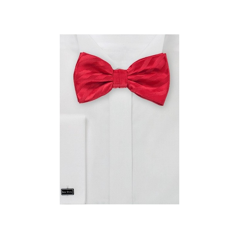 Red Striped Bow Tie for Kids