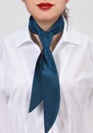 Teal Blue Women's Necktie