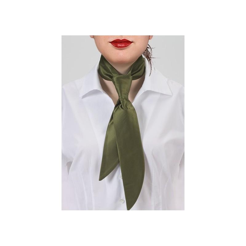 Olive Green Women's Necktie