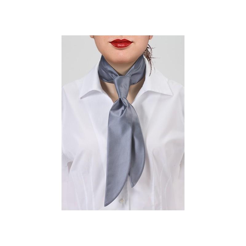 Silver Gray Women's Necktie