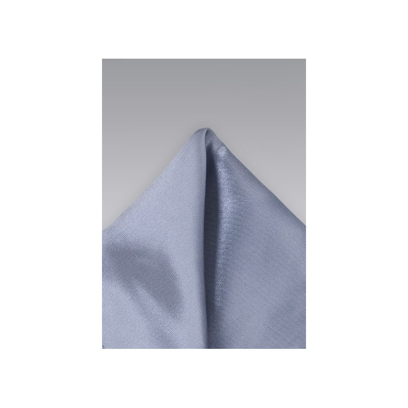 Solid Satin Pocket Square in Gray