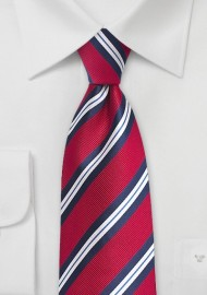 Trendy Repp Stripe Tie in Red and Blue