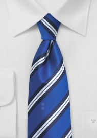 Horizon Blue Repp Striped Tie