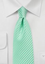 Opal Green Extra Long Tie