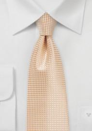Extra Long Necktie in Peach Cobbler