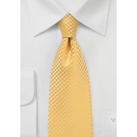 Dandelion Colored Tie in XL Length