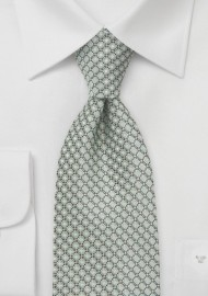 Diamond Patterned Kids Tie in Mint Green Color