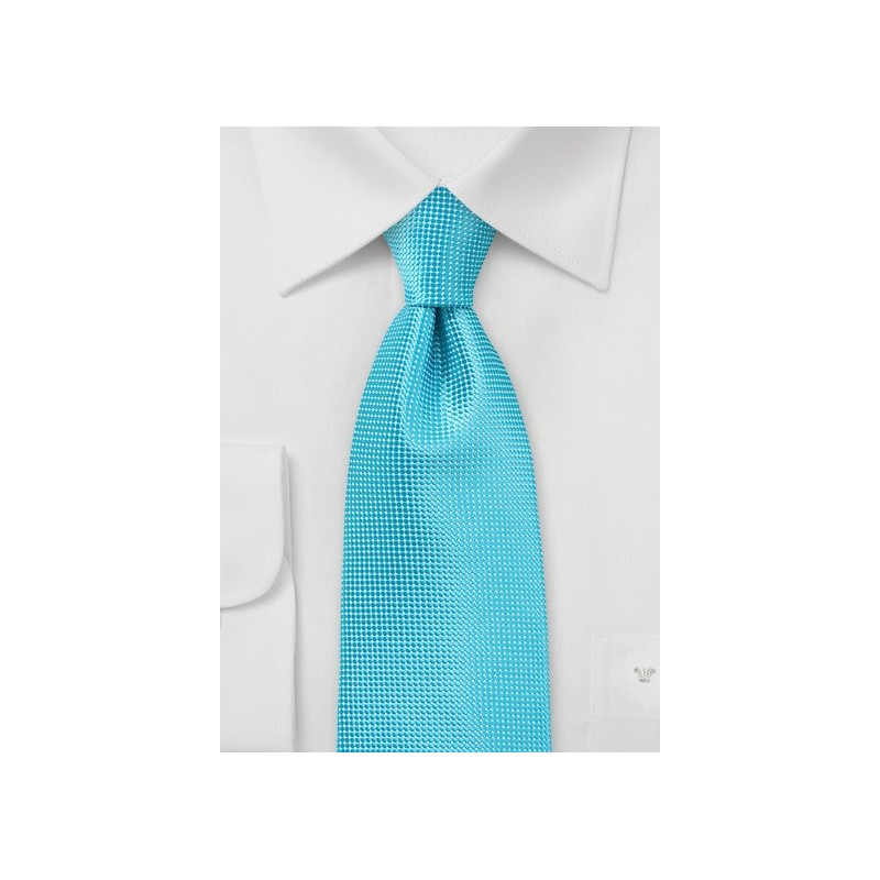 Bluebird Turquoise Necktie in XL Length