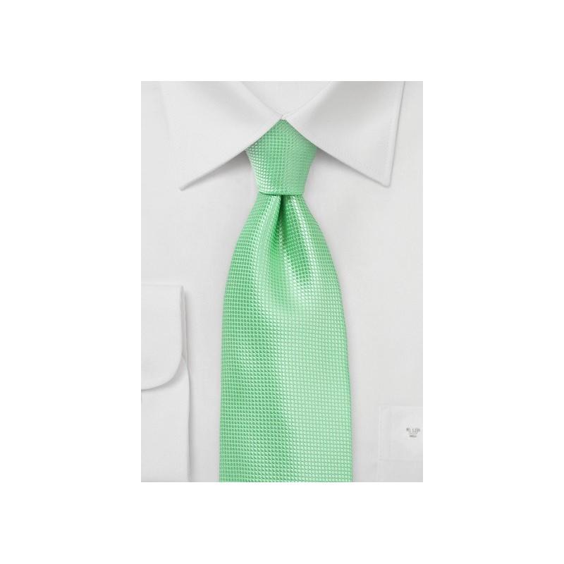 Bright Summer Mint Necktie in XL Length