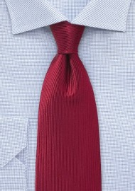 Corduroy Silk Tie in Cherry Red