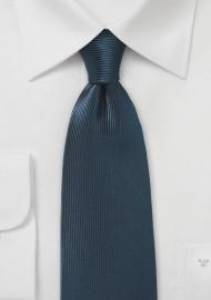 Ribbed Texture Silk Tie in Dark Navy