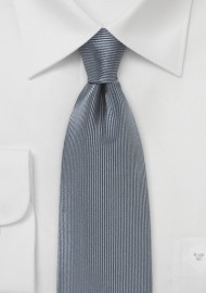 Smoke Gray Silk Necktie