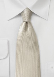 Cream Colored Tie with Ribbed Texture