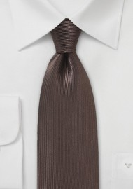 Textured Designer Silk Tie in Chocolate Brown